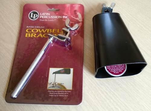 Cencerro y soporte lp para batería / percusiones
