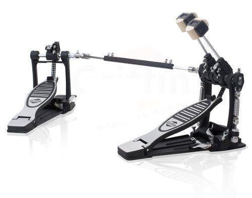 Doble pedal para bateria marca griffin, drive de cadena.