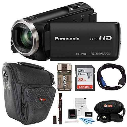 Panasonic hc -v180k completo hd videocámara 1080p w / 32gb