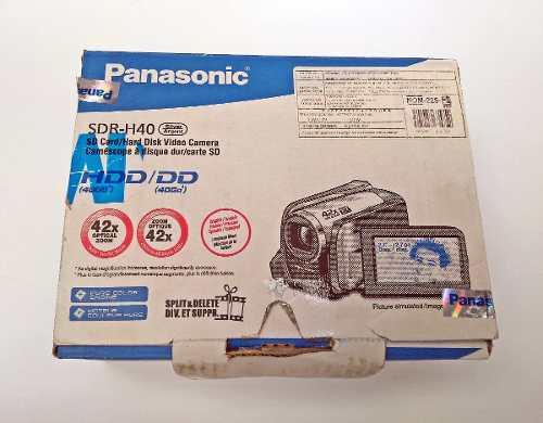 Panasonic videocámara camara modelo sdr h40