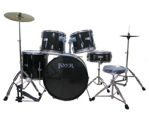Set batería musical completa 5 piezas rwr platillos y banco