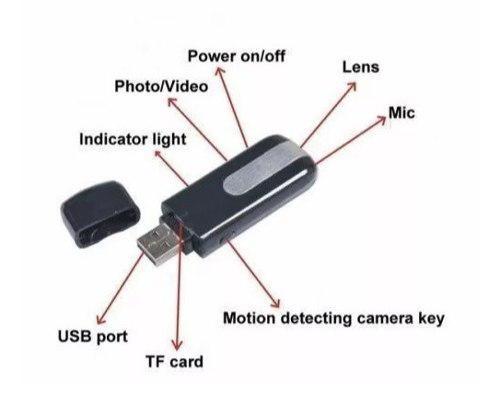 Usb cámara espia videocámara mini dvr dvo