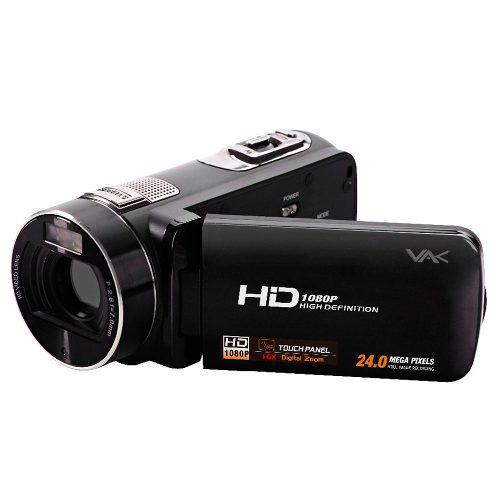 Videocamara full hd vak 809 24mp hdmi touch face detection 3