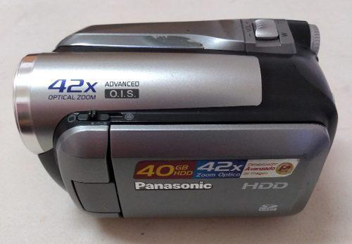 Videocamara panasonic 40gbhdd 42x zoom optico con accesorios