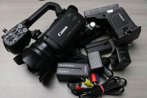 Videocámara canon hd xa10 con baterías y cables