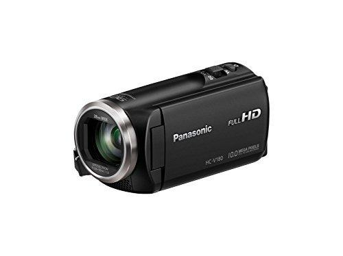 Videocámara full hd panasonic hc-v180k con zoom óptico