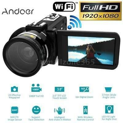 Wifi hd 1080p 24mp 16xzoom granangular dv videocámara