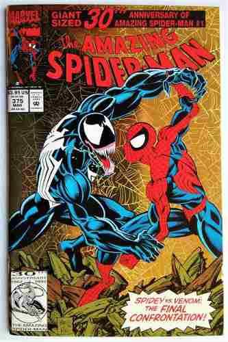 Amazing spiderman 375 (marvel 1993) portada foil 30 aniv.