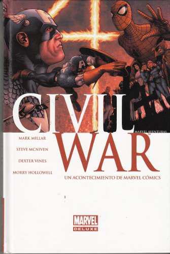 Comic marvel deluxe civil war español portada original