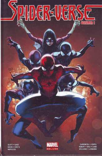 Comic marvel deluxe spider-verse 2 tomos saga completa hc