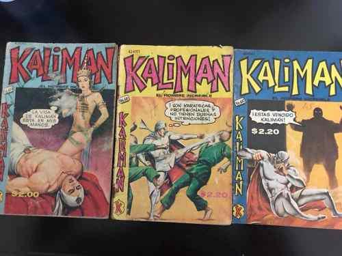 Kaliman lote de 9 revistas antiguas