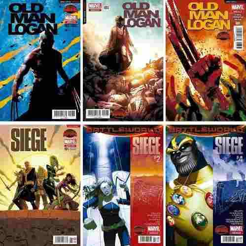 Marvel comics secret wars old man logan 2 3 4 siege 1 2 4