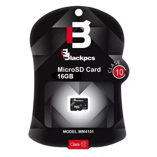 Memoria micro sd blackpcs 16gb clase 10 101 mm10101-16