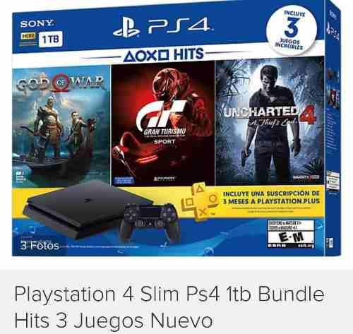Playstation 4 slim ps4 1tb bundle hits 3 juegos