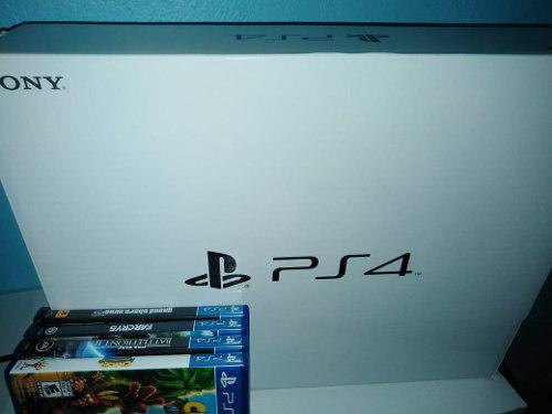 Playstation 4 slim seminuevo 1tb + 4 juegos de ps4