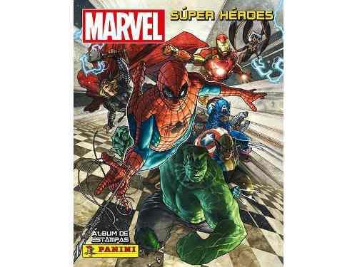 Set de estampas marvel super héroes completo panini +
