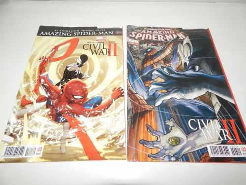 Spider man hombre araña comic dist0 civil war 2 lote