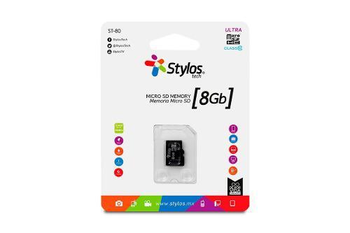 Stylos memoria micro sd 8gb clase 10 celular tablet mayoreo