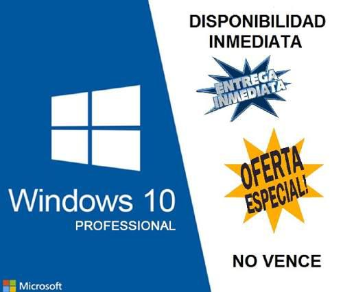 Windows 10 pro licencias genuinas envio inmediato