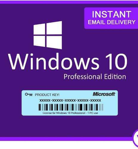 Windows 10 profesiona codigo oficial original entrega ya