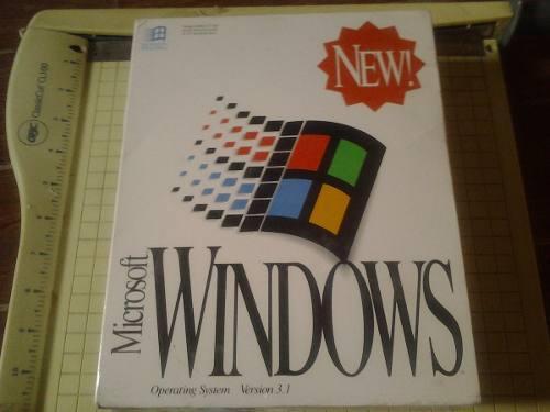 Windows 3.1, microsoft nuevo caja sellada de fabrica