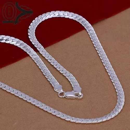 Cadena plata laminada panza de vivora