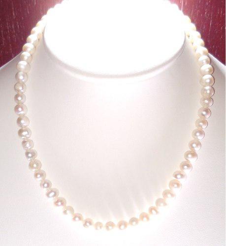 022a5896eb4b Collar perlas cultivadas naturales con broche de oro a027 en México ...