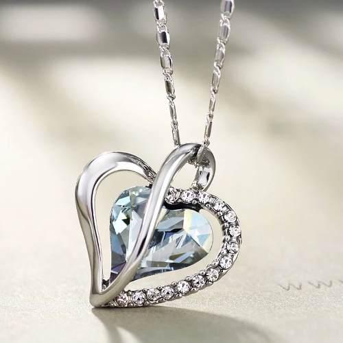 8a42638bcfd2 Dije collar corazon cristal 【 REBAJAS Julio 】 | Clasf