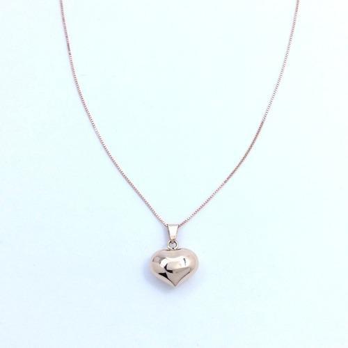 b3f7a3965acc Hermoso corazon y cadena en oro rosa 14k regalo de amor gbm