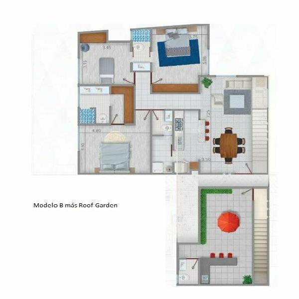 Pent house en venta en colonia tequis