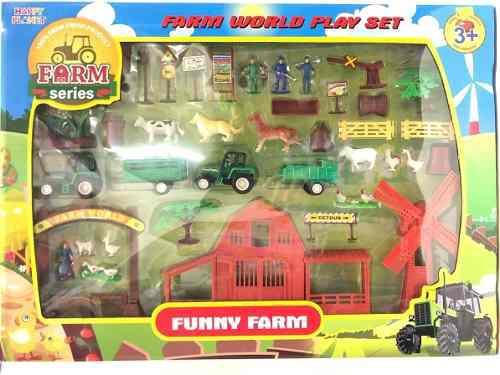 5 granja infantil tractor animales juguetes mayoreo