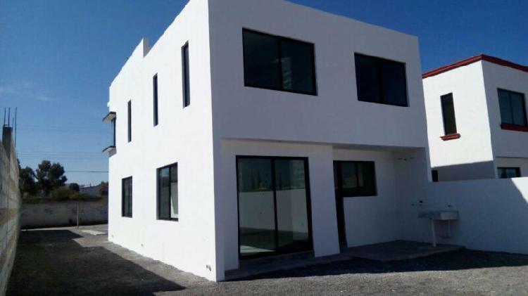 Casa nueva equipada 4 recamaras en 420 mts de terreno
