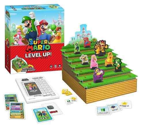 Juego de mesa super mario level up! board game colección