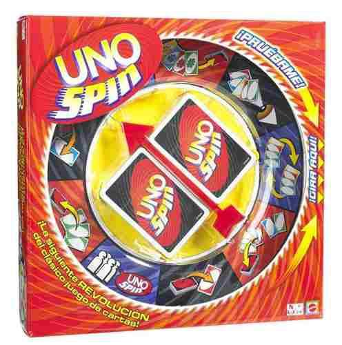 Juego de mesa uno spin de cartas mattel