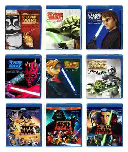 Star wars the clone wars 1 - 6 y rebels 1 - 3 paquete bluray