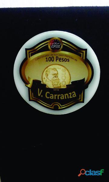 Album coleccionador para monedas de 100 pesos serie v. carranza