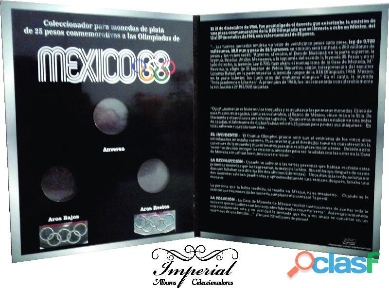 Album coleccionador para monedas de 25 pesos olimpicas