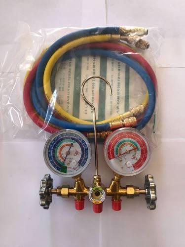 Juego manometros refrigeración manifold r134a r22 r407c