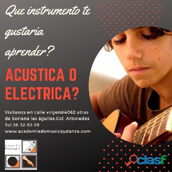 Clases de guitarra eléctrica.