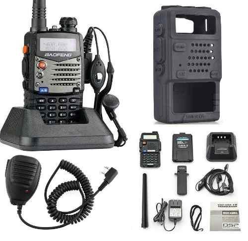 15 radio baofeng uv-5ra dual-band + microfono solapa + funda