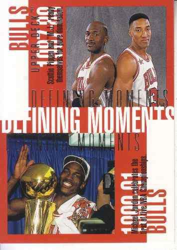 1997-98 upper deck defining moments bulls jordan pippen rodm