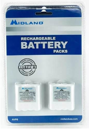 Avp8 2 baterias recargables nimh batt6r para radios midland
