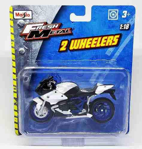 Bmw hp2 sport motos a escala deportiva 1/18 maisto coleccion