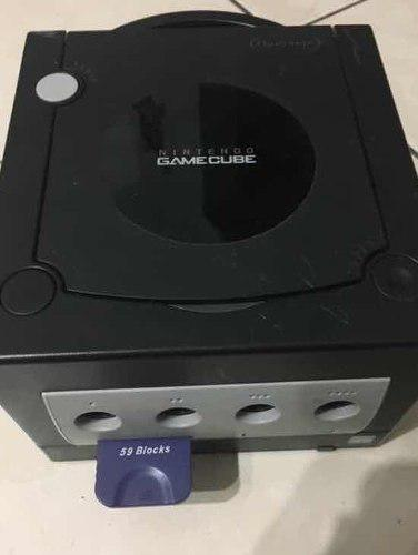 Gamecube negro juegos (luigi,crash,jn), 2 controles, memoria