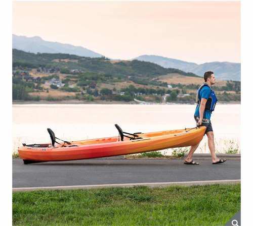 Kayak doble para remar tandem lifetime surf olas mar remar