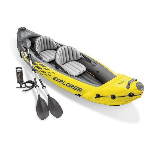 Kayak inflable lancha intex 2 personas con remos y bomba