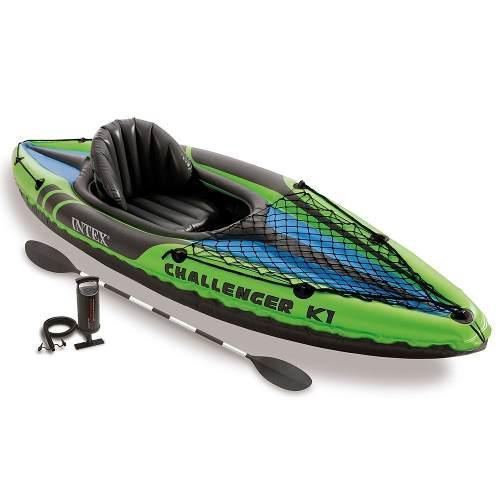 Kayak inflable lancha intex individual con remos y bomba