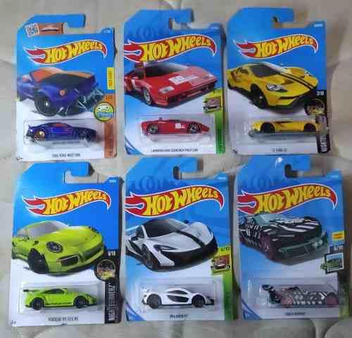 Lote 6 carritos deportivos hotwheels coleccionables (parte5)