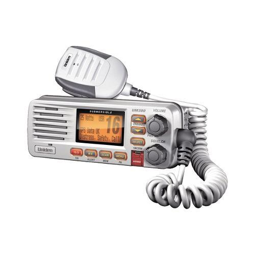 Radio movil marino vhf 25w, color blanco um380 uniden