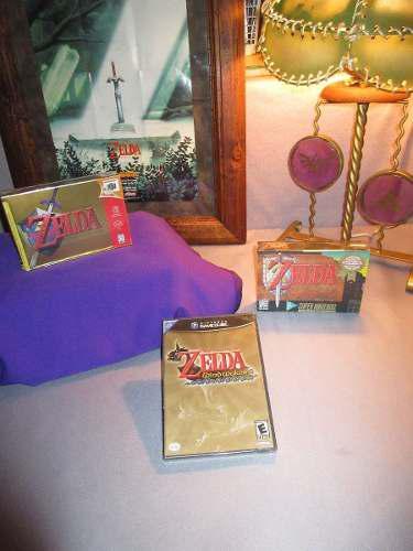 3 juegos the legend of zelda ocarina n64 snes gamecube nuevo